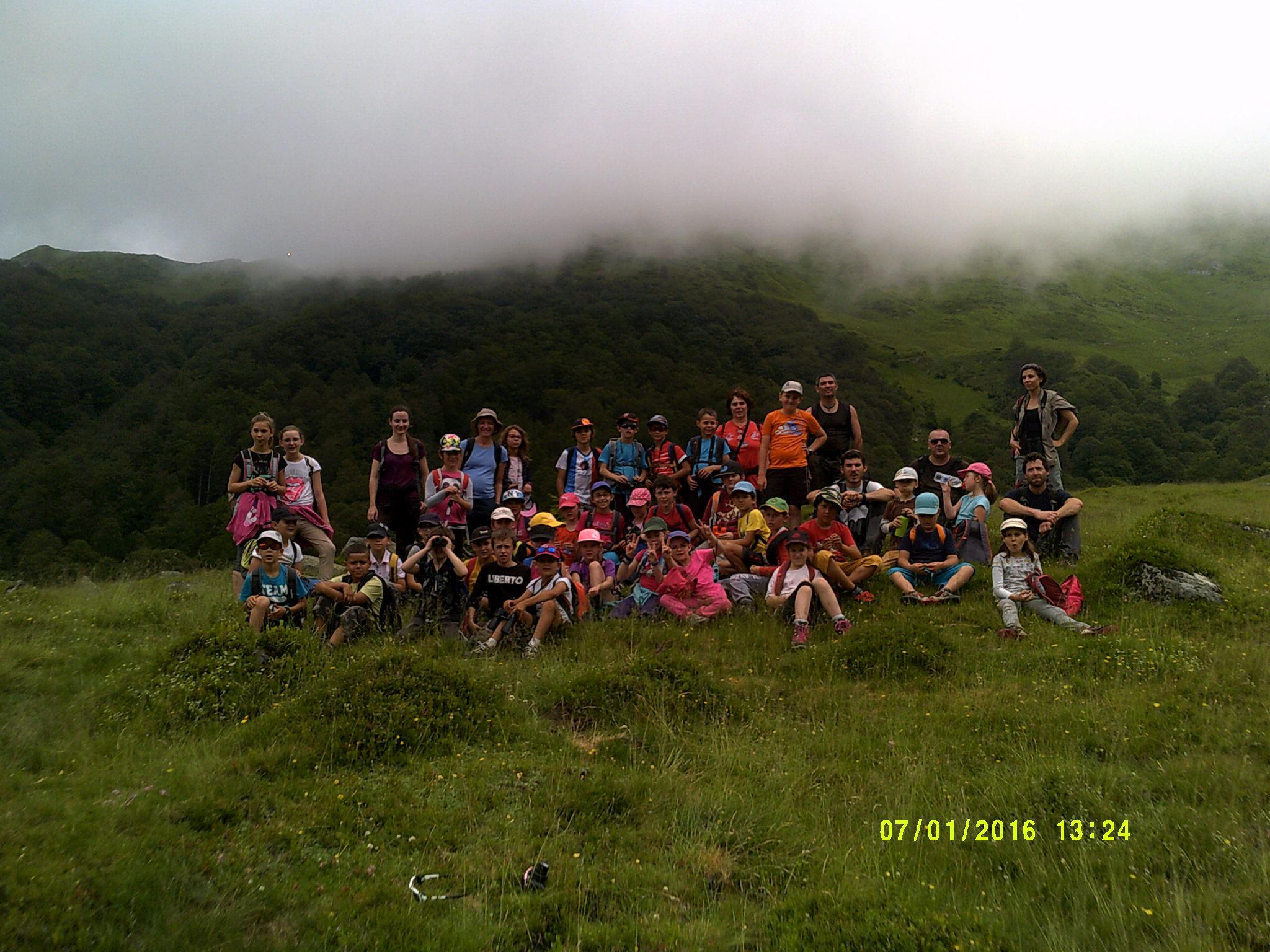 Photo de groupe des classes de La Bastide Sérou.