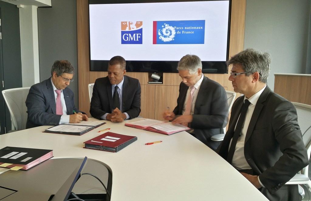 Signature d'une convention de partenariat entre le Parc national des Pyrénées et la GMF ©.SCorporon - Parcs nationaux de France